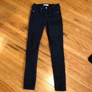 GAP true skinny black skinny jeans